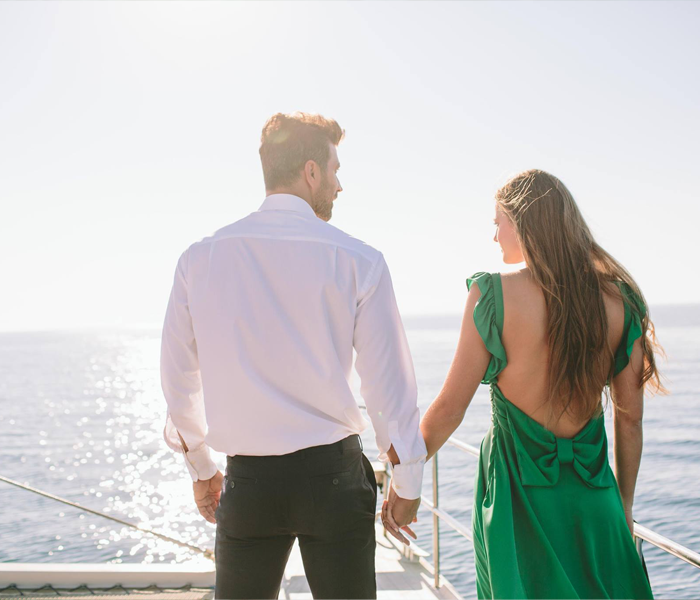 WEDDING ANNIVERSARY ON A YACHT