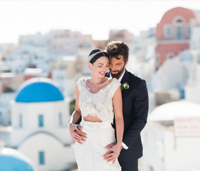 Elegant Wedding Inspiration, Oia Santorini