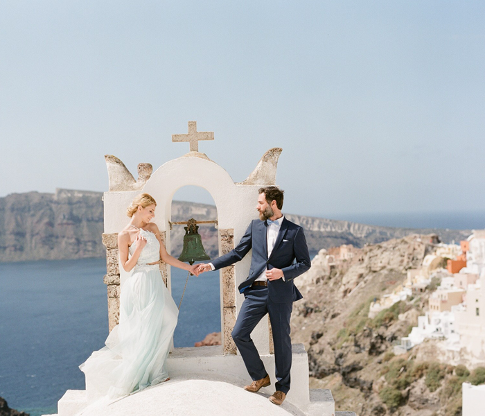 Grecian Wedding Style, Santorini